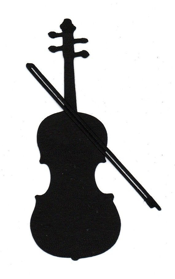 Violin making clipart png transparent library Violin or Cello Silhouette die cut for scrap booking or card ... png transparent library