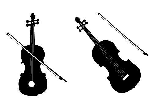 Violin silhouette clipart stock Silhouette Vector Blog Free Silhouette Illustration | Vector ... stock