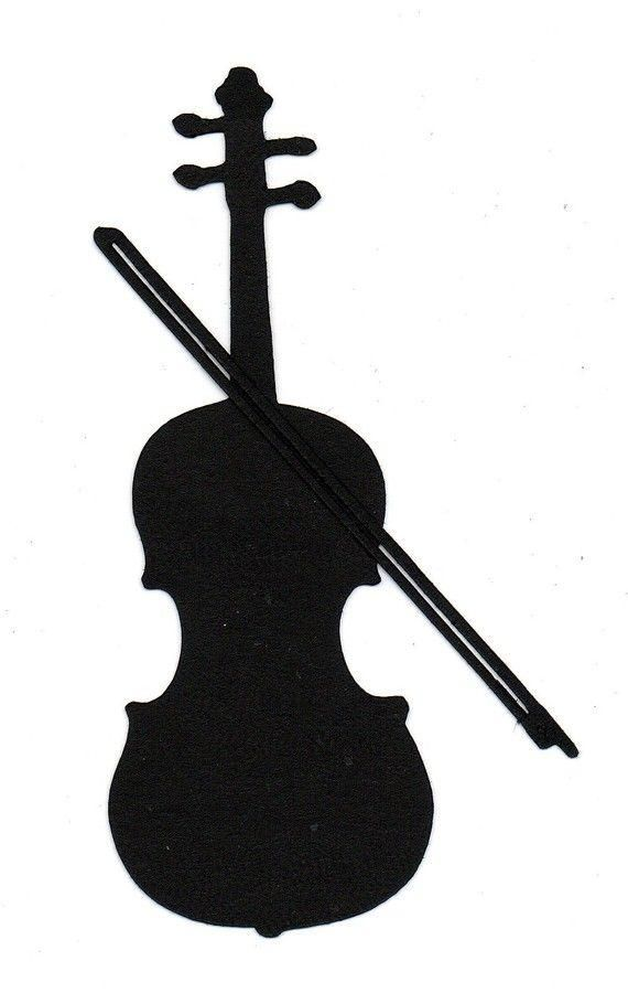 Violin silhouette clipart clip art freeuse library Violin Decal For your Business Or Student or Teaching ... clip art freeuse library