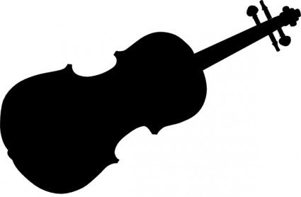 Violin with cello whimsical clipart graphic royalty free download Violin Silhouette clip art   MORE.............   Silhouette ... graphic royalty free download