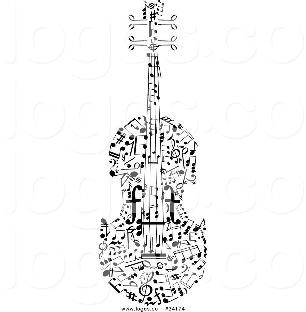 Violinn music note clipart png Vector Logo of a Violin Music Notes by Vector Tradition SM ... png