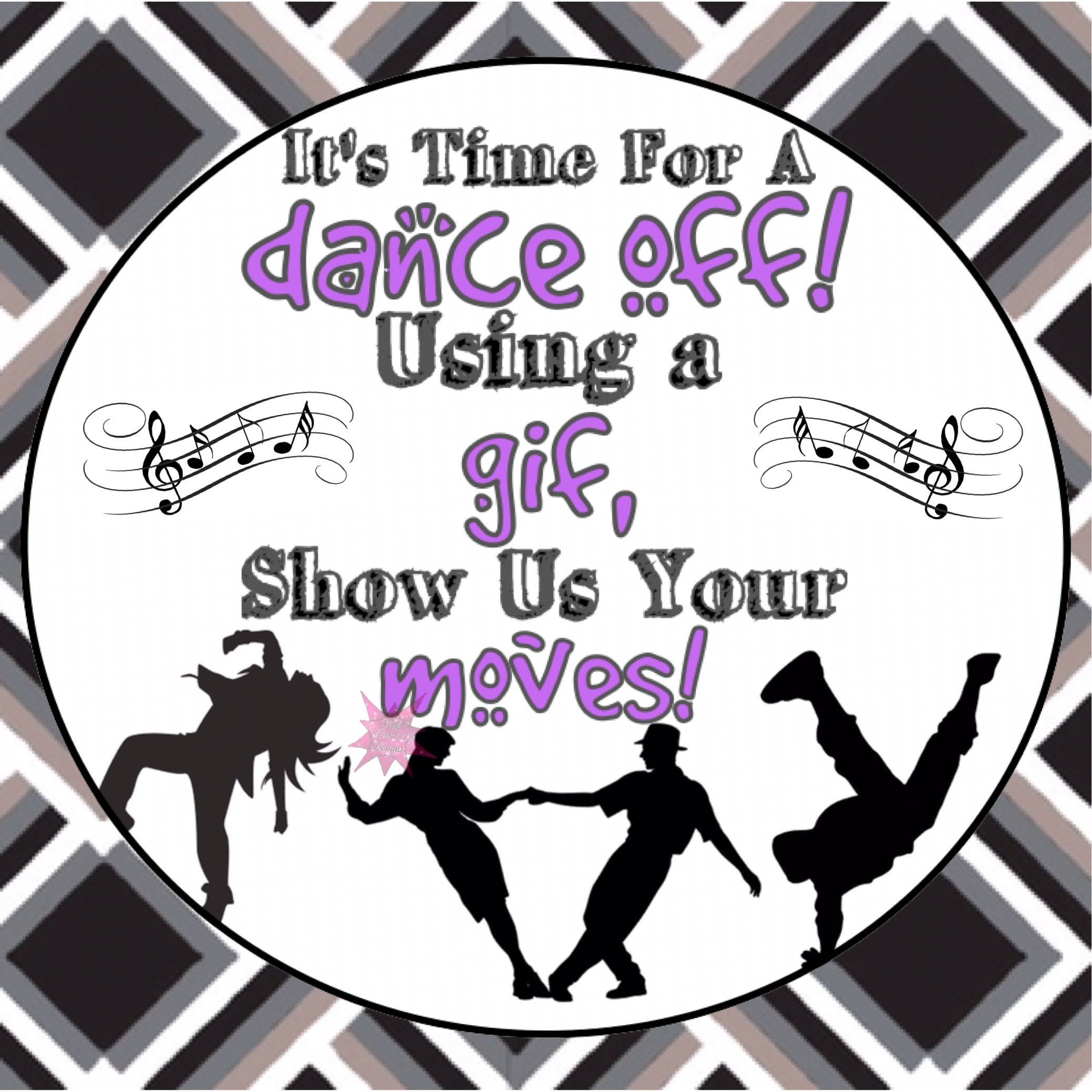 Vip dance party clipart svg library stock Gif dance off interactive graphic for Facebook VIP group or ... svg library stock