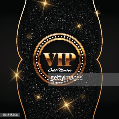 Vip glitter clipart png black and white library Gold Vip Vector Illustration ON Shiny Glitter Background ... png black and white library