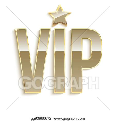 Vip glitter clipart clip art free stock EPS Vector - Golden symbol of exclusivity, the label vip ... clip art free stock