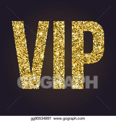 Vip glitter clipart clip art black and white download EPS Vector - Golden symbol of exclusivity, the label vip ... clip art black and white download