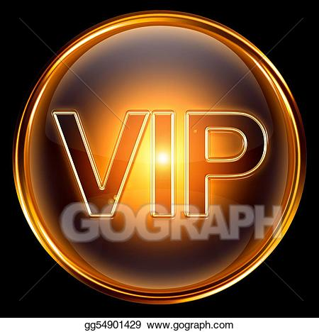 Vip icon clipart graphic royalty free Stock Illustration - Vip icon gold, isolated on black ... graphic royalty free