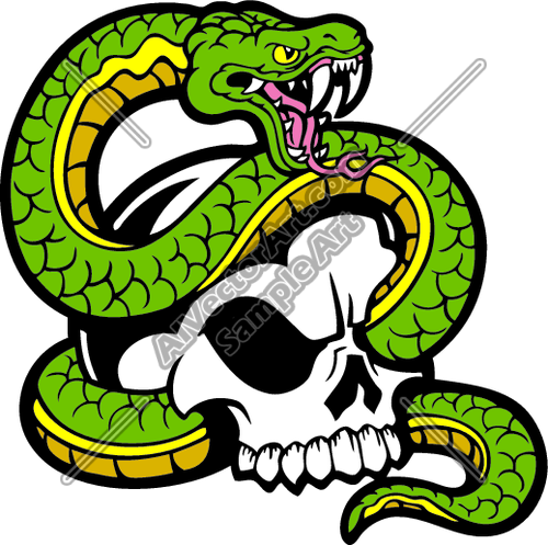 Viper snake with medical clipart free download Viper Snake Tangled in Skull Clipart and Vectorart: Misc ... free download
