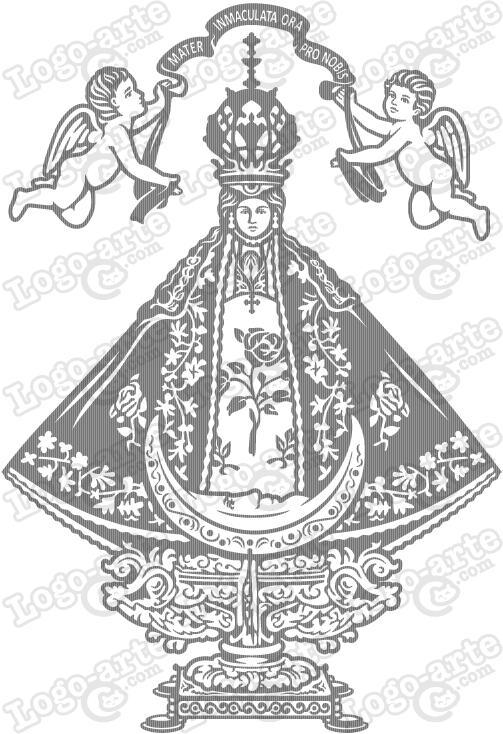 Virgen de san juan clipart picture royalty free library Our Lady of San Juan de los Lagos vector for cutting plotter ... picture royalty free library