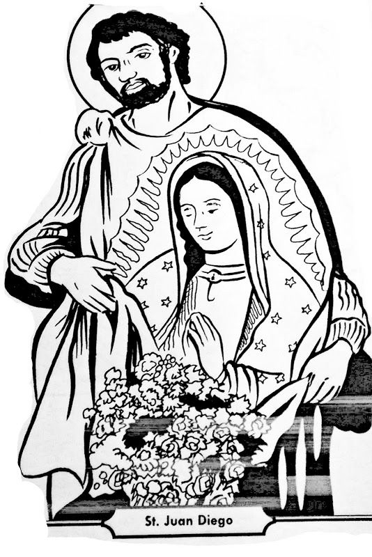 Virgen de san juan clipart png stock Saint Juan Diego and Virgin of Guadalupe coloring pages ... png stock