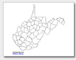 Virginia county map clipart banner freeuse stock Printable West Virginia Maps | State Outline, County, Cities banner freeuse stock