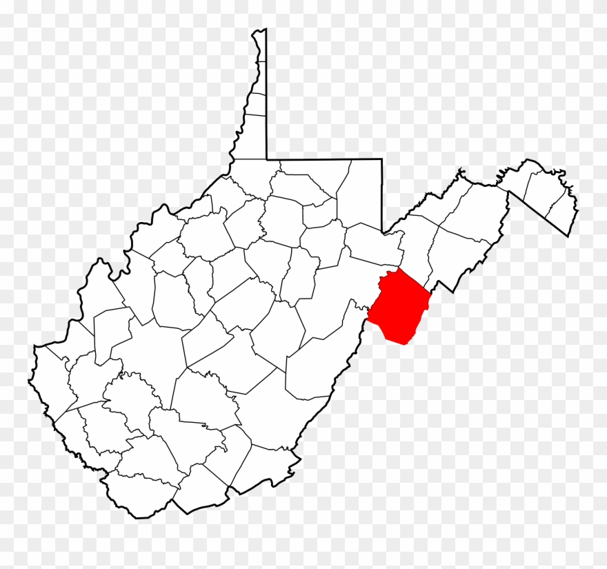 Virginia county map clipart banner royalty free library Map Of West Virginia Highlighting Monongalia County - Map Of ... banner royalty free library