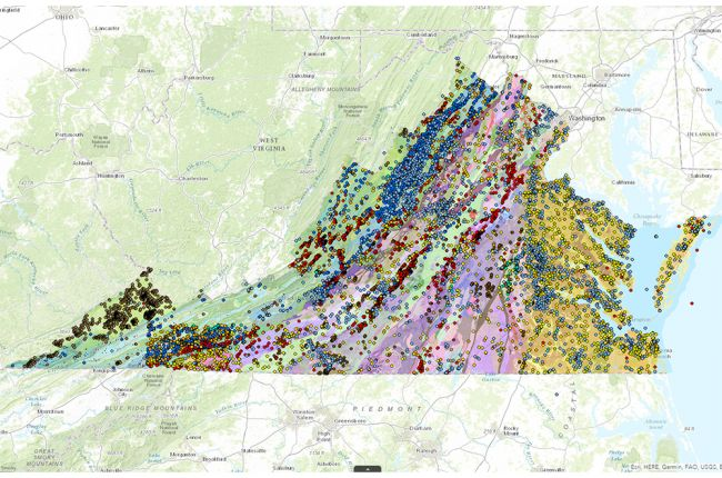 Virginia county map clipart png transparent stock Interactive map of Virginia\'s geology and natural resources ... png transparent stock