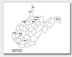 Virginia county map clipart banner Printable West Virginia Maps | State Outline, County, Cities banner