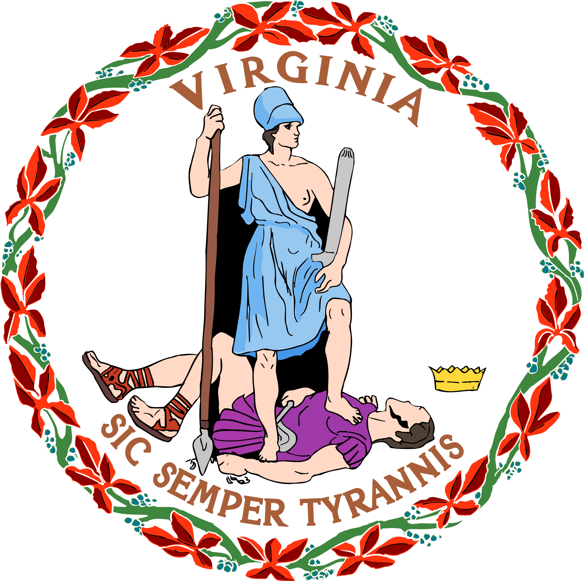 Virginia seal clipart