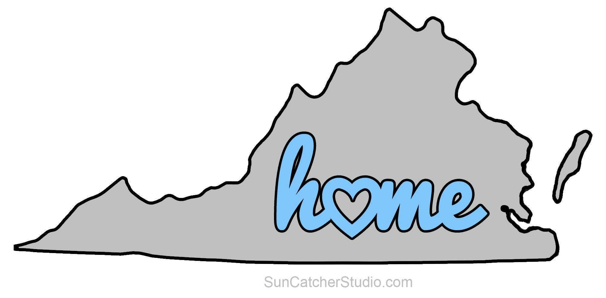 Virginia clipart free graphic library download Virginia - Map Outline, Printable State, Shape, Stencil ... graphic library download