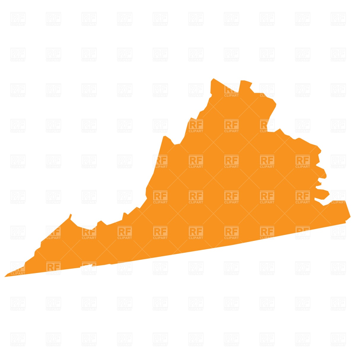 Virginia state map clipart clipart Virginia state clipart - ClipartFest clipart