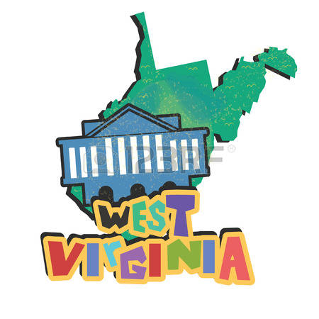 Virginia state map clipart image freeuse 843 West Virginia State Map Stock Vector Illustration And Royalty ... image freeuse