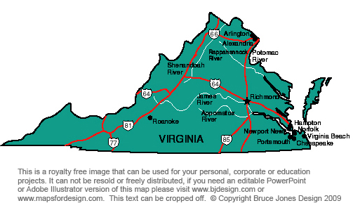 Virginia state map clipart jpg transparent download US State Printable Maps, South Dakota to Wyoming, royalty Free ... jpg transparent download