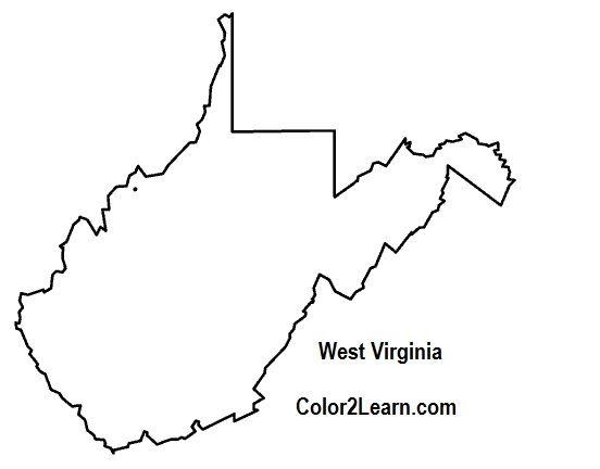 Virginia state map clipart svg black and white West Virginia State Map   Clipart Panda - Free Clipart Images svg black and white