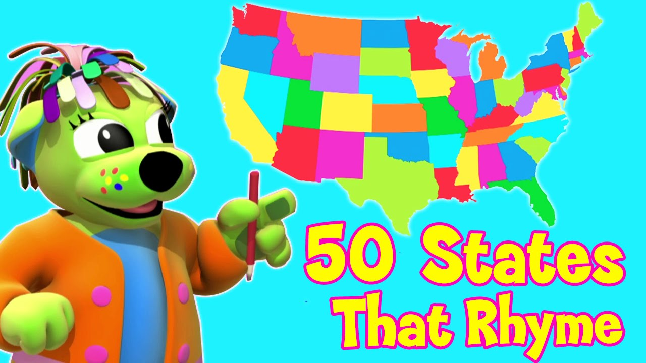 Viringina state song clipart clip art royalty free download Nursery Rhymes and Kids Songs   50 States That Rhyme   Raggs Tv clip art royalty free download