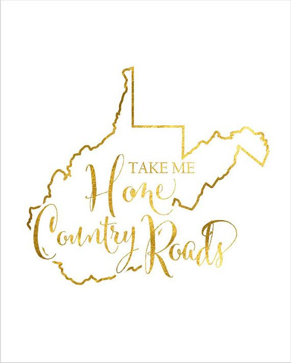 West virginia roots clipart clip black and white download West Virginia State Map Print Take Me Home by ... clip black and white download