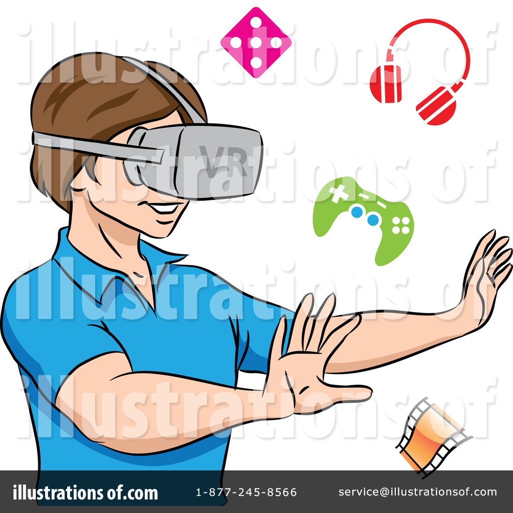 Virtual clipart png freeuse Virtual Reality Clipart #1389097 - Illustration by cidepix png freeuse