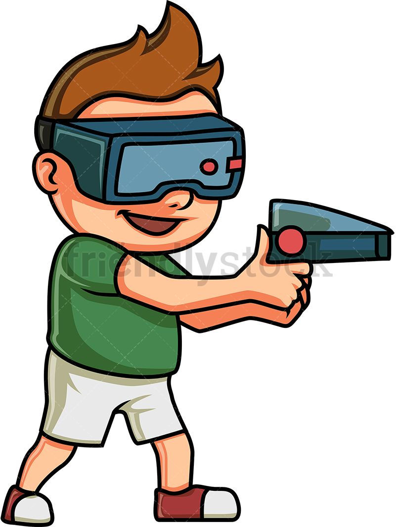 Virtual clipart picture royalty free stock Kid Playing A Virtual Reality Game | Kids Clipart | Virtual ... picture royalty free stock
