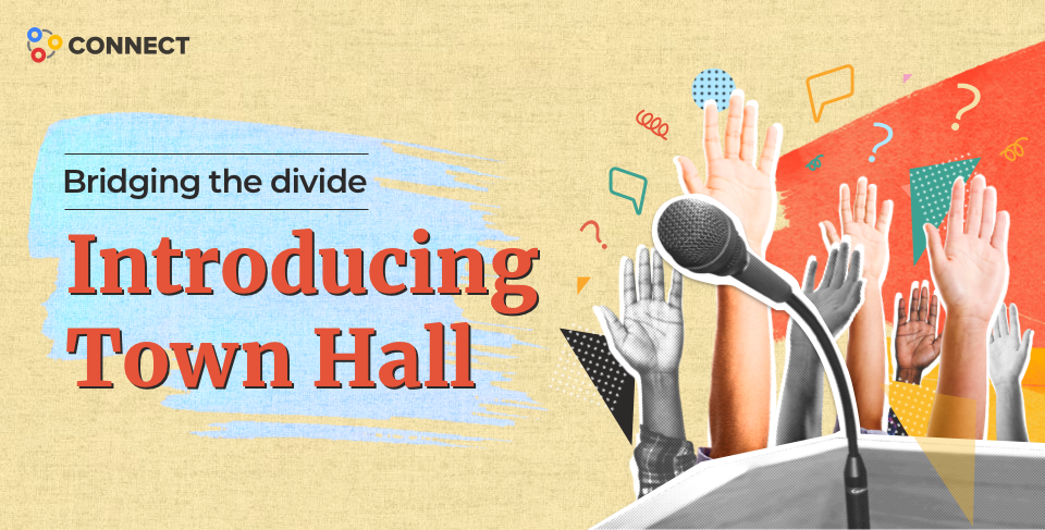 Virtual town hall meeting clipart vector royalty free download Bridging the divide: Introducing Town Hall in Zoho Connect ... vector royalty free download
