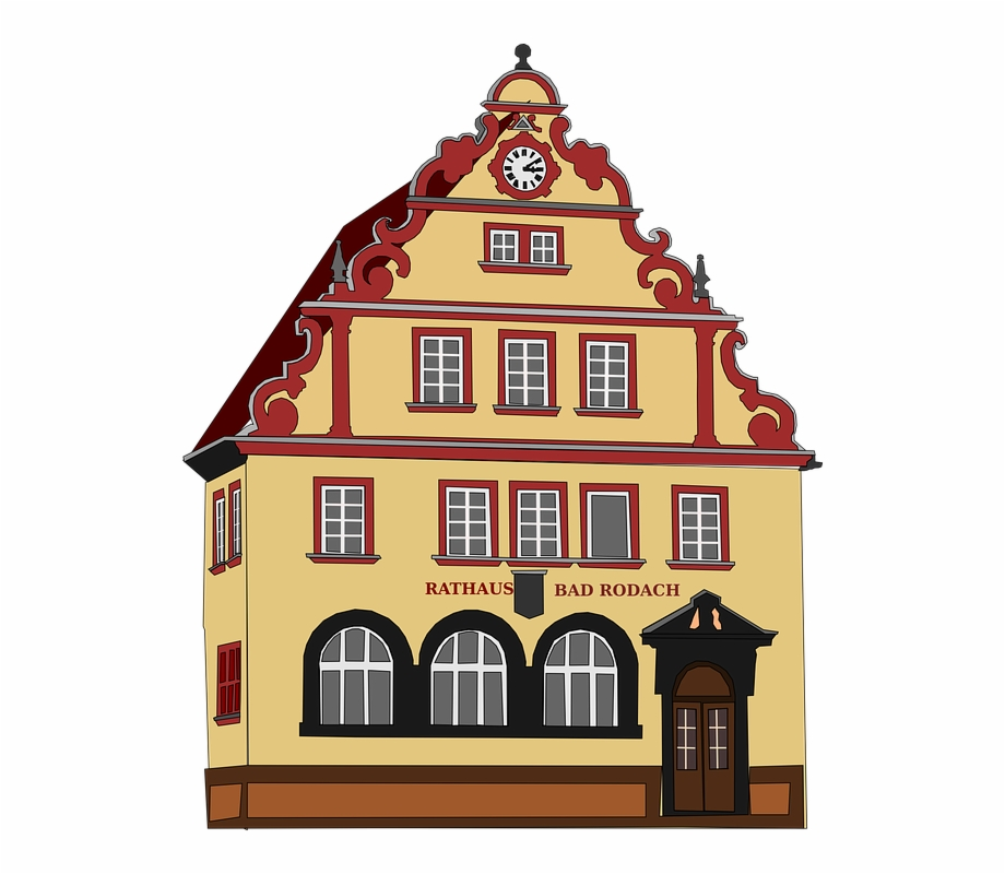 Virtual town hall meeting clipart svg transparent library Town Hall Town-hall City Hall Guildhall House - Bad Rodach ... svg transparent library