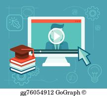 Virtual training clipart picture royalty free library Virtual Training Clip Art - Royalty Free - GoGraph picture royalty free library