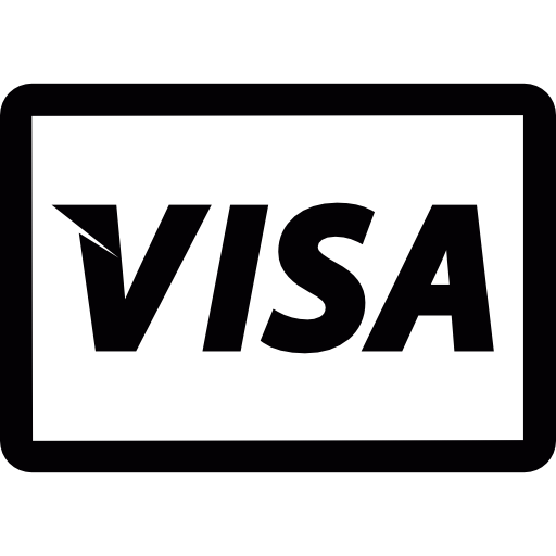 Visa logo white clipart jpg royalty free stock Visa logo - Free commerce icons jpg royalty free stock