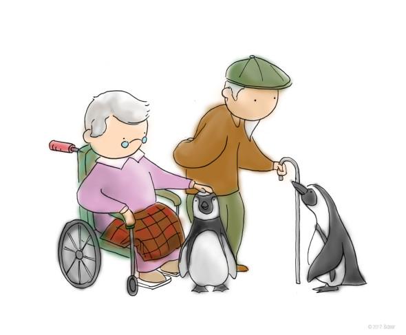 Visit the elderly clipart banner transparent download penguins visit elderly home | &dear | blog banner transparent download