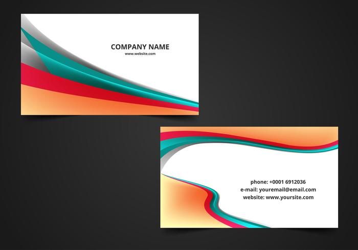 Visiting card background clipart clipart transparent library Free Vector Wave Visiting Card Background - Download Free ... clipart transparent library