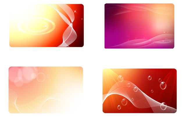 Visiting card background clipart freeuse stock Free Vectors: Glowing Red Business Card Background Set ... freeuse stock