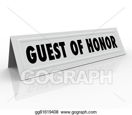 Visiting dignitaries clipart clip art download Stock Illustrations - Guest of honor name tent card speaker ... clip art download