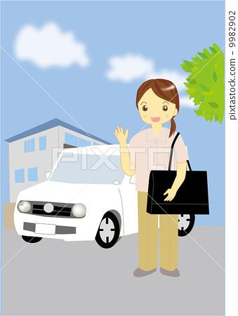 Visiting nurse clipart svg free stock Visiting nurse illustration - Stock Illustration [9982902 ... svg free stock