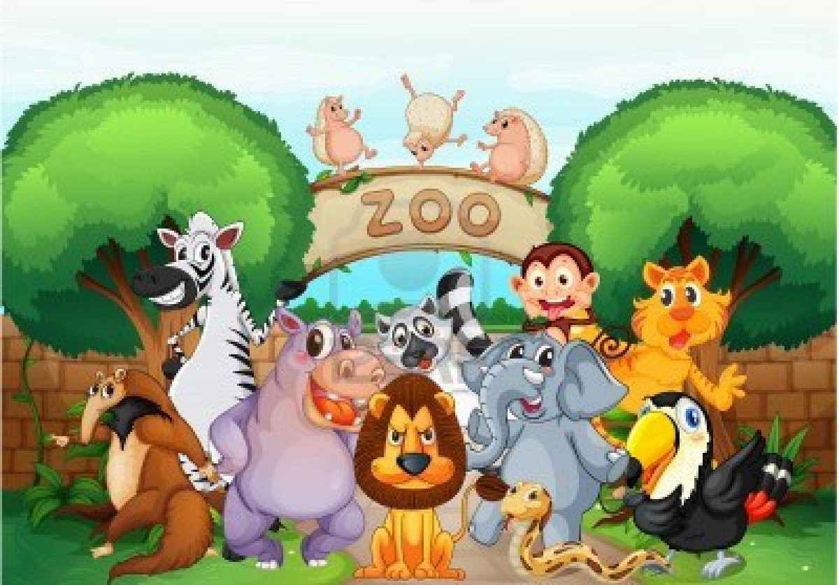 Visiting the zoo clipart svg black and white A Visit to a Zoo English Essay ~ Blogging in Pakistan ... svg black and white