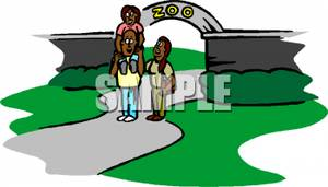 Visiting the zoo clipart clip art library stock An African American Family Visiting the Zoo Clipart Image clip art library stock