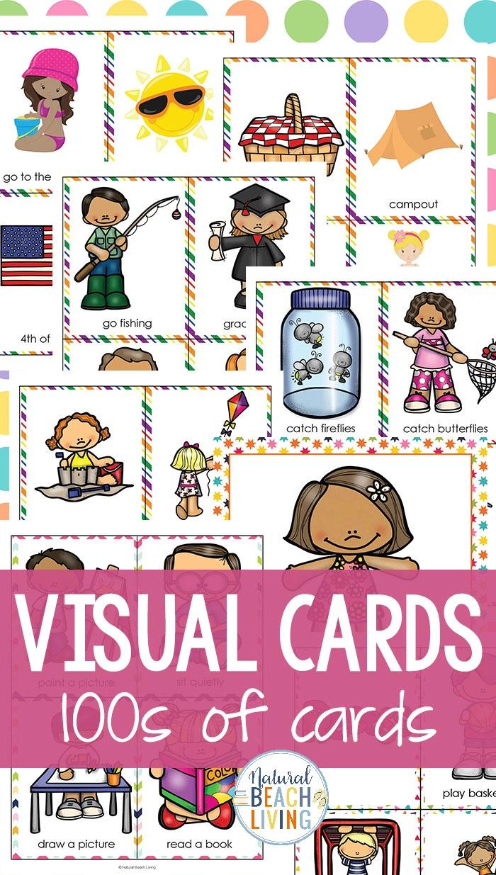 Visual school schedule clipart vector free stock Visual Schedule Printable Bundle - Best Daily Schedule for ... vector free stock
