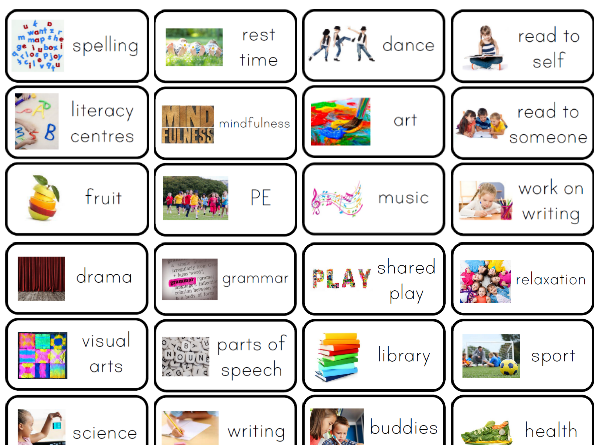 Visual school schedule clipart free stock Visual timetables for all ages   Tes free stock