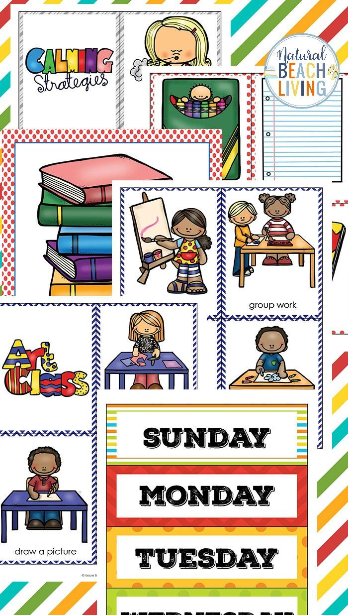 Visual school schedule clipart clipart transparent library Visual Schedule Printable Bundle - Best Daily Schedule for ... clipart transparent library
