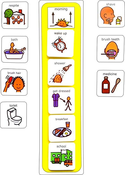 Visual school schedule clipart clip art free library Plastic Visual ASD Morning Routine (Picture Communication Symbols) clip art free library