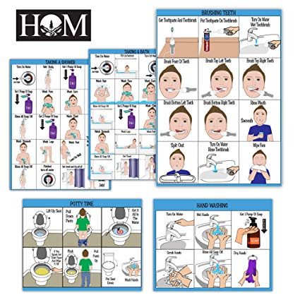 Visual support wash hands clipart clipart free stock All New! ABA/OT Approved Step-by-Step 9X12\