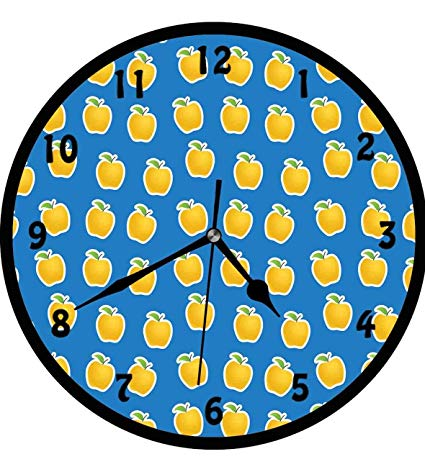 Vitamins clipart background svg free library Amazon.com: Apple, Yellow Clipart Apples on Blue Background ... svg free library