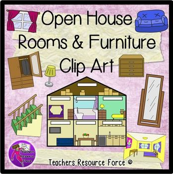 Vocabulary clip art teachers image transparent library House, Rooms and Furniture Clip Art | Room kitchen, A well and Home image transparent library