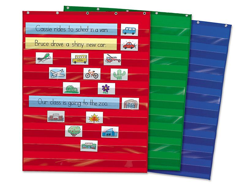 Vocabulary pocket chart clipart