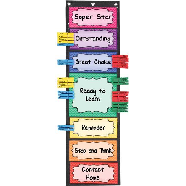 Vocabulary pocket chart clipart vector freeuse stock Classroom Behavior EZ-Tuck Clip \'N\' Track Pocket Chart® vector freeuse stock