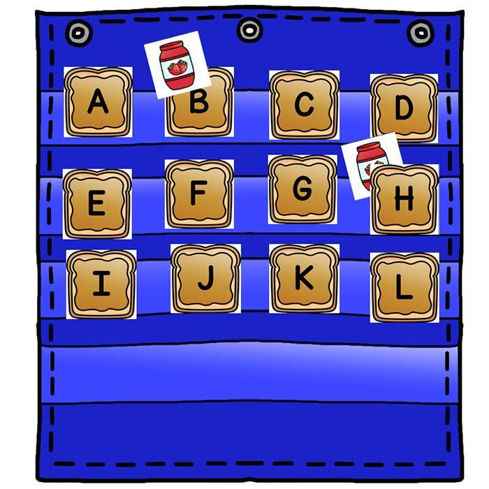 Vocabulary pocket chart clipart graphic royalty free stock Alphabet Hide & Seek Pocket Chart Cards | ENDLESS ... graphic royalty free stock