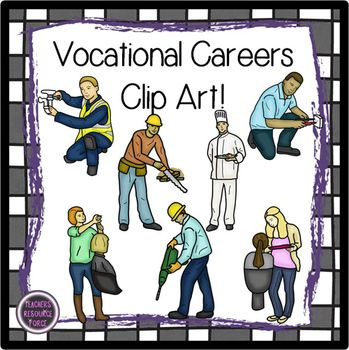 Vocational education clipart banner freeuse Vocational Careers clip art | Guidance - Odds & Ends ... banner freeuse