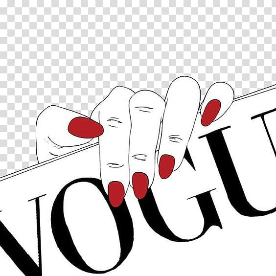 Vogue clipart white clipart download Person holding Vogue signage, Nail Red Pink , Hands clinging ... clipart download